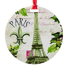 Vintage French Christmas in Paris Ornament