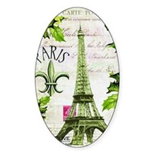 Vintage French Christmas in Paris Decal
