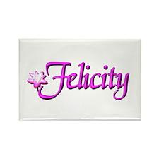 Felicity Lotus Rectangle Magnet