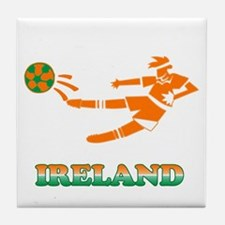 Irish Soccer Player Tile Coaster
