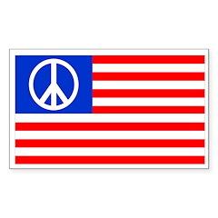 Peace Flag Rectangular Decal