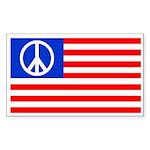 Peace Flag Rectangular Sticker