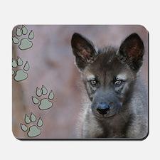 Wolf pup Mousepad