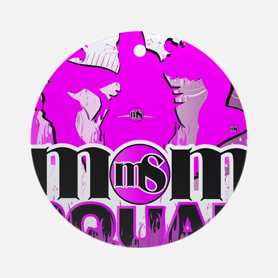 MOM SQUAD Round Ornament