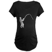 Fisherman Silhouette Maternity T-Shirt