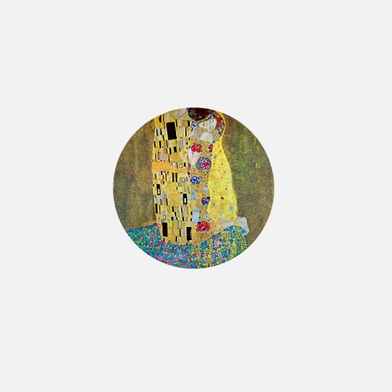 The Kiss by Gustav Klimt, Vintage Art  Mini Button