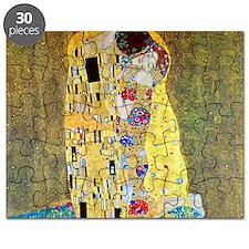 The Kiss by Gustav Klimt, Vintage Art Nouve Puzzle