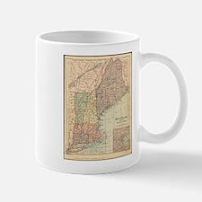 Vintage Map of New England (1880) Mugs