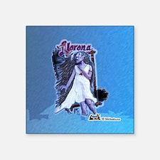 "Legends of Belize Llorona T Square Sticker 3"" x 3"""