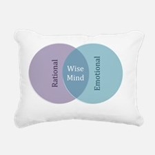 Wise Mind Rectangular Canvas Pillow