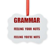 Grammar Nuts Ornament
