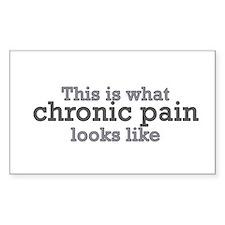 this is what chronic pain loo Sticker (Rectangular