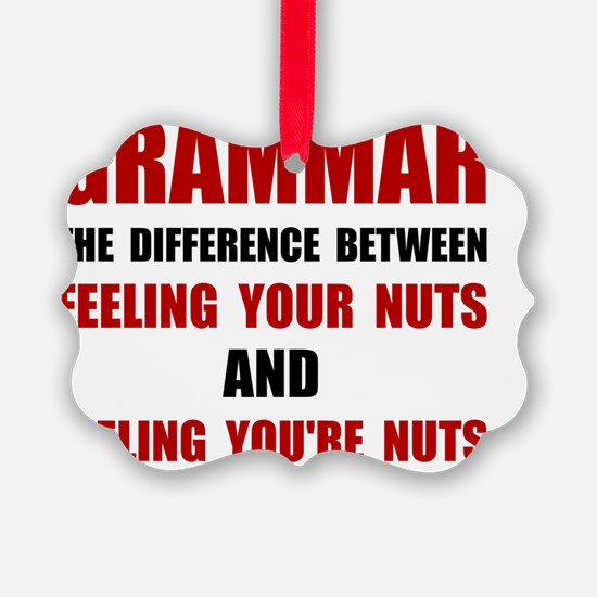 Grammar Nuts Ornament