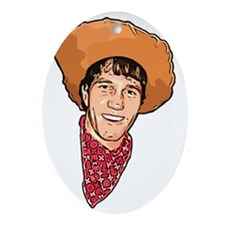 Benny the Cowboy Oval Ornament