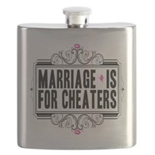 Marriage is for Cheaters Flask