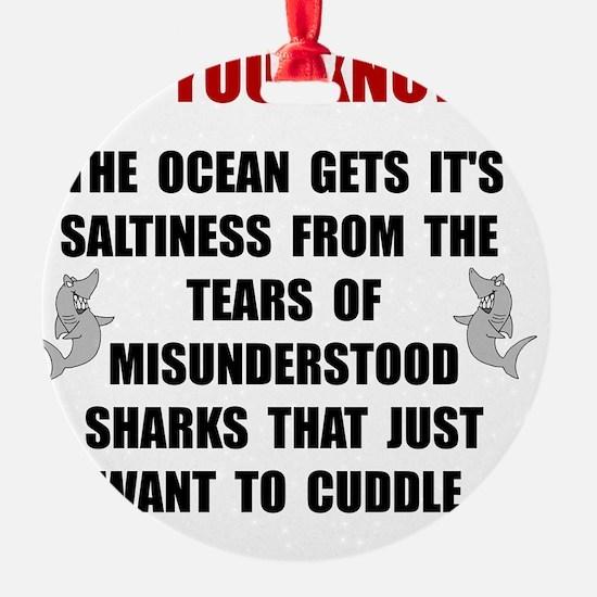 Sharks Cuddle Ornament