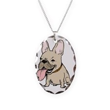 nohatfrenchie Necklace Oval Charm