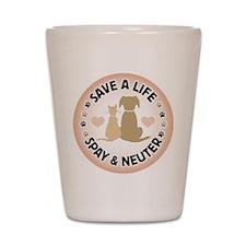 Save A Life Spay & Neuter Shot Glass