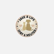 Save A Life Spay & Neuter Mini Button