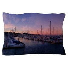 Santa Cruz Harbor Pillow Case