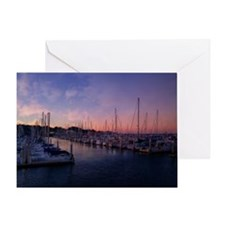 Santa Cruz Harbor Greeting Card