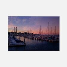 Santa Cruz Harbor Rectangle Magnet