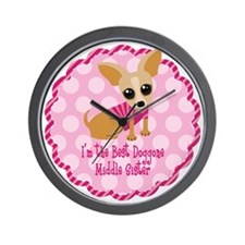 Chihuahua Middle Sister Wall Clock