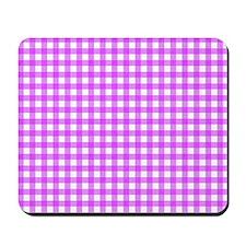 Pink Gingham Pattern Mousepad