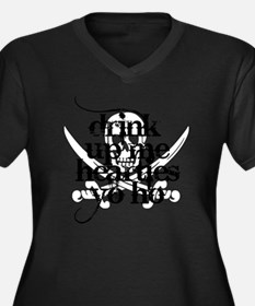 Arrr Women's Plus Size Dark V-Neck T-Shirt