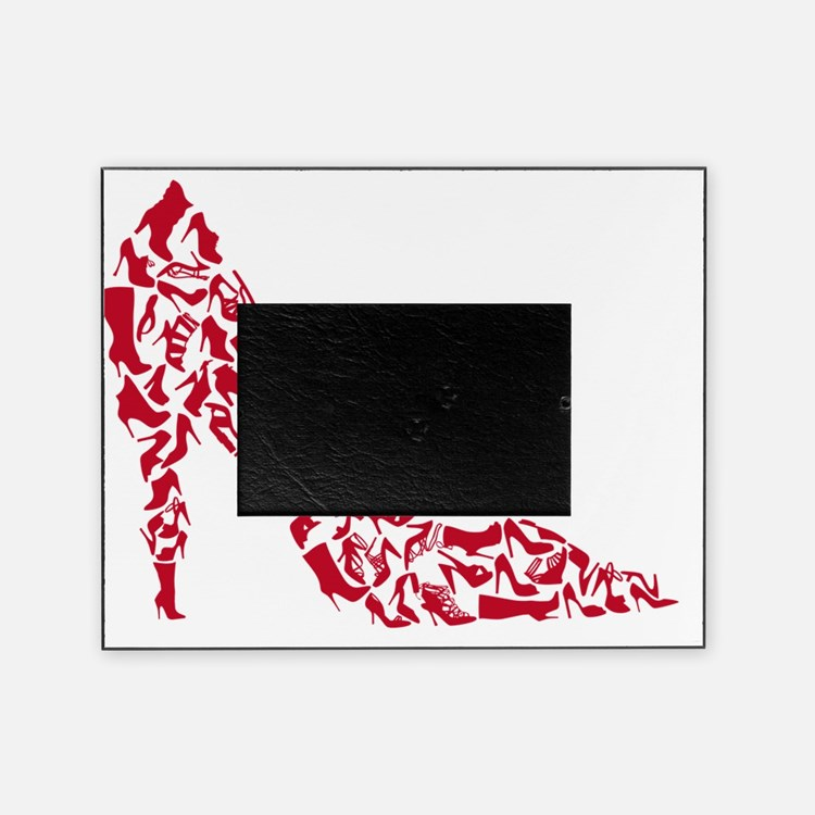 shoe silhouette with different shoes Picture Frame