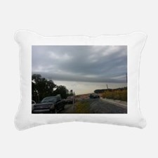 Road site. Rectangular Canvas Pillow