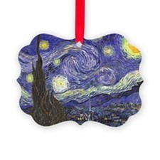 Van Gogh Starry Night, Vintage Po Ornament