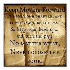 "Keep Moving Forward Back Square Car Magnet 3"" x 3"""