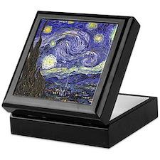 Van Gogh Starry Night, Vintage Post I Keepsake Box