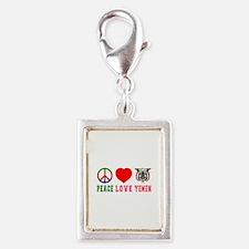 Peace Love Yemen Silver Portrait Charm