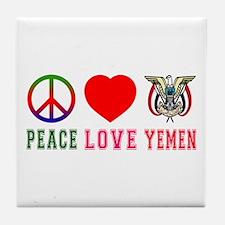 Peace Love Yemen Tile Coaster