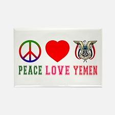 Peace Love Yemen Rectangle Magnet