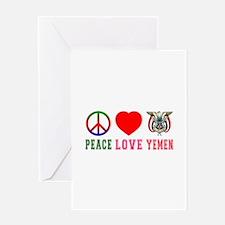 Peace Love Yemen Greeting Card
