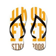 Drug Free Since 2008 Flip Flops