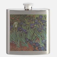 Irises by van Gogh Vintage Post Impressionis Flask