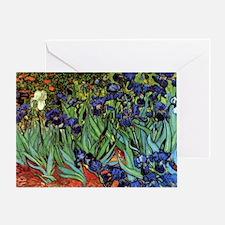 Irises by van Gogh Vintage Post Impr Greeting Card