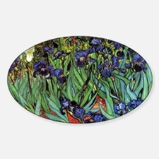 Irises by van Gogh Vintage Post Imp Decal