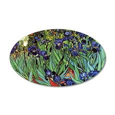 Irises by van Gogh Vintage P 35x21 Oval Wall Decal