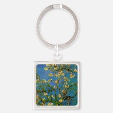 Blossoming Almond Tree by Vincent  Square Keychain