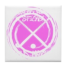 Chicks With Sticks - Field Hockey Tile Coaster
