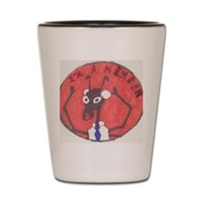 Manager Ant Badge Shot Glass