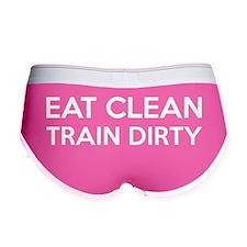 Eat Clean Train Dirty Women's Boy Brief