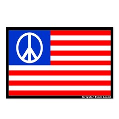 8 Peace Flag Patriotic Postcards