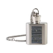 Daisy chain heart Flask Necklace