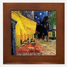 Van Gogh, Cafe Terrace at Night Framed Tile